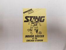 Chicago Sting 1980/81 NASL Indoor Soccer Pocket Schedule Home Card - Ovaltine