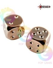 Set 2 Dadi D6 16mm Color RAME Placcato CHESSEX plated Sei Facce D&D RPG 29011