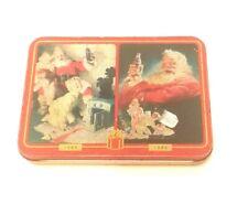 Vintage COCA COLA Brand Nostalgia Playing Cards Case 1996
