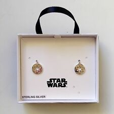 STAR WARS EMPIRE IMPERIAL LOGO STERLING SILVER EARRINGS