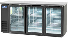 "Arctic Air Abb72G 72"" 3 Glass Door Back Bar Cooler"