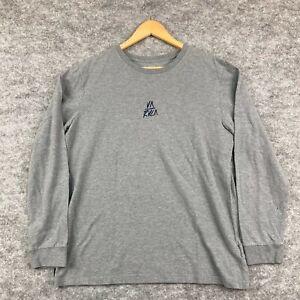 RVCA Mens Shirt Size Large Grey Long Sleeve Round Neck 9.33