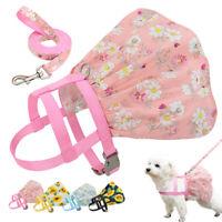 Vêtement robe pour petit chien chiot chat chienne chihuahua harnais et Laisse