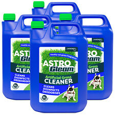 4 x 5LT ARTIFICIAL GRASS CLEANER - ASTRO TURF LAWN DEODORISER DOG DISINFECTANT