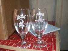 PAIR OF EVERARDS HALF PINT GLASSES LAGER BEER ALE GLASSES BEACON HILL