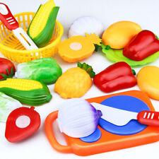 12Pcs Niños Juguetes de Frutas y Verduras Alimentos Cocina Juego fingir Corte comida Juguetes