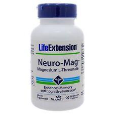 Neuro-Mag Magnesium L-Threonate Life Extension (90 Vegetarian Capsules) SEALED