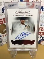 🔥2018 Panini Flawless Gleyber Torres RC Auto Ruby /20 New York Yankees🔥