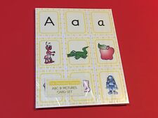 Montessori - Pre Reading Series - ABC & Picture Card set  - 230+ Laminated Cards