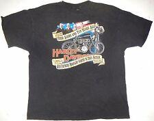 Mens 2XL XXL Harley-Davidson SS Tee Black Cotton 1993 90th Anniversary Oak Lawn