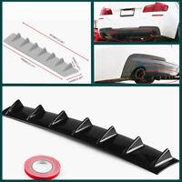 """33"""" x5"""" ABS Car SUV Rear Rear Shark Fin Curved Addon Bumper Lip Diffuser 7 Fin"""