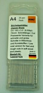 German High Quality Jigsaw Blades Compatible with Bosch T111C Pack of 25