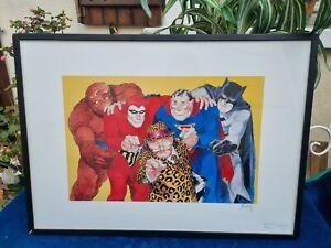 Belle et rare affiche d'époque signé BOUCQ / FESTIVAL DE LA BD 1999 / Avengers