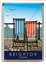 Vintage Retro Poster - Brighton Palace Pier - Fridge Magnet - Size 90mm x 60mm