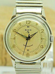 Serviced Vintage swiss made Elgin Shockmaster 17 jewel wrist watch FF28 1950s