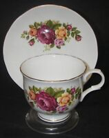 CUP & SAUCER Sadler Wellington Fine Bone China Floral Roses Made England