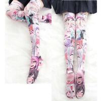 Women Ahegao Anime Printed Stockings Anime Hentai Manga Harajuku Over Knee Socks