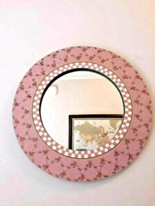 """18"""" Unique Creations Pink Flowers Custom made Framed Mirror strawberry shortcake"""