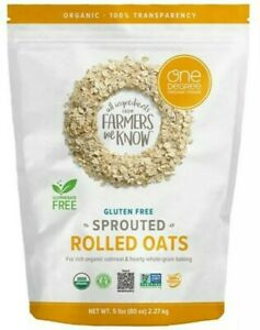 One Degree Organic Foods-Organic Sprouted Rolled Oats - 5 lb 3-PACK