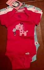 Gerber Baby  Onesies Bodysuits New 3 pack Size 3-9 month giraffe