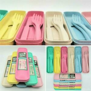 Strong Plastic Reusable Travel Cutlery Set - Fork Knife Spoon - BBQ Picnic work