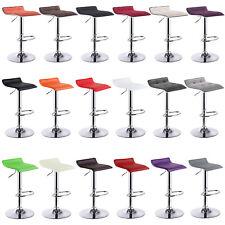 Tabourets de bar en cuir synthétique/Linge lot de 2 chaise cuisine réglable f005