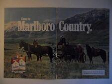 1983 Print Ad Marlboro Man Cigarettes ~ Wagon Trail Cowboy