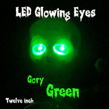 """LED GLOWING EYES HALLOWEEN GREEN 5MM 9 VOLT WIDE ANGLE 9V 12"""""""