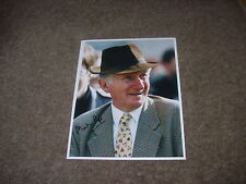 Martin Pipe of Wellington Horse Racing Trainer 13/3/97 Hand Signed Press Photo