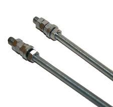 2 x m8 filetés bar rod rivets 8 x 300 avec rondelles & noix (137S)
