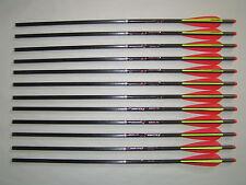 "12 Beman Carbon ICS Crossbow Hunter 22"" Halfmoon Arrow Bolt Fits Barnett Parker"
