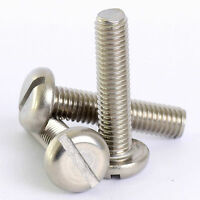M5 304 Stainless Steel Slotted Pan Round Head Screws Bolt Metric 5mm