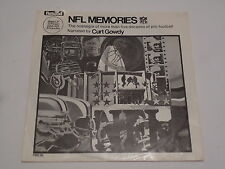 NFL Memories Fleetwood Curt Gowdy FMS 26 Football Record Picture Sleeve