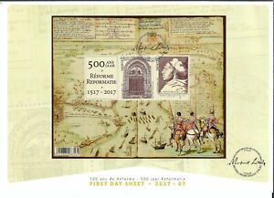 [LB9818] Belgium FDS 2017-07 500 years reformation First Day Sheet SUPERB