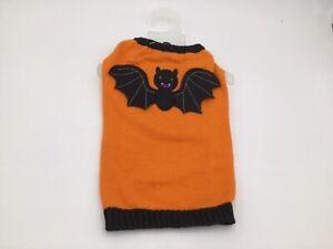 Orange Bat Sweater for Dogs Halloween Costume