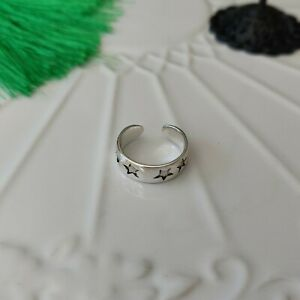 Solid 925 Sterling Silver Star Toe Ring