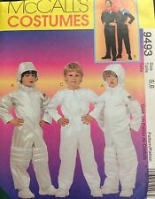 McCalls Sewing Pattern Halloween Costume 9493 Astronaut Space Child 5 6