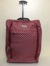 Red and white polka dotted suitcase LUGGAGEHUB