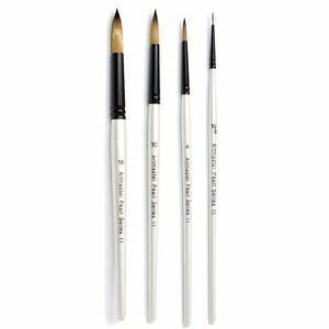 Artmaster Pearl Artist ROUND Watercolour Paint Brushes - 12 Sizes Available