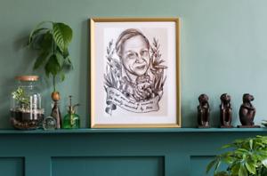 David Attenborough Print Quote Tattoo Art Flash Nature Boho Traditional