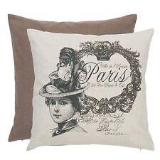 Clayre & Eef Kissenhülle Vintage Paris 40x40cm Shabby NEU Beige*Braun