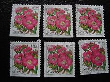 SUEDE - timbre yvert et tellier n° 2044 x6 obl (A29) stamp sweden (E)