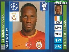127 DIDIER DROGBA IVORY COAST GALATASARAY STICKER CHAMPIONS LEAGUE 2014 PANINI