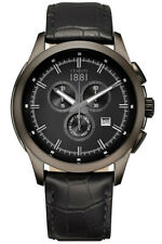 Cerruti 1881 Watch Mens Chronograph CRA092G222G Leather Stainless Steel New