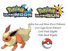 Pokemon Ultra Sun and Moon Eevee and Colorful Friends HA Flareon Event Pokemon