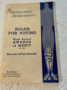 1936 NINTH ANNUAL AWARDS OF MERIT ACADEMY AWARDS