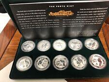 1999-2000 10pc australia kookaburra themes landmarks privy mark  silver coin set