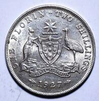 1927 Australia One 1 Florin - George V - Lot 604