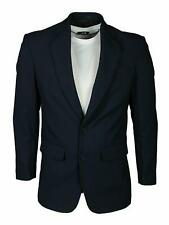 Men's Formal Navy Blazer 38-52 2 Button Up Office Casual Classy Suit Jacket