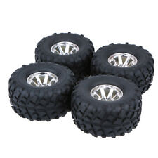 4pcs 1/10 Racing Off-Road Rubber Tires Wheel Rim For RC Truck Model Car US P2P0